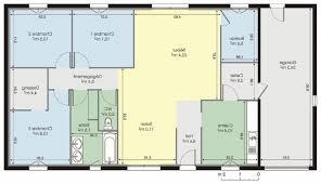 modele plan maison plain pied gratuit 4 chambres plans 2 plein