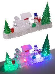 drop down christmas lights christmas light up decoration acrylic santa snowman led indoor