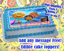 personalized party supplies emoji edible cake toppers edible print sugar sheet decoration