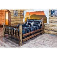 rustic beds u0026 headboards bedroom furniture the home depot