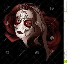 halloween background sugar skulls in sugar skull make up stock photos image 34903313