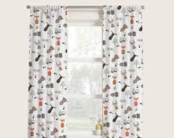 Jungle Curtains For Nursery Woodland Curtains Etsy