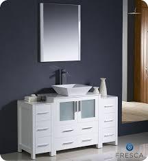 Single Vanity For Bathroom by Fresca Torino Single 54 Inch Modern Bathroom Vanity White With