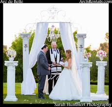 wedding arch rental venue rancho valencia wedding and thanks to hummert