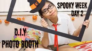 diy halloween photo booth youtube