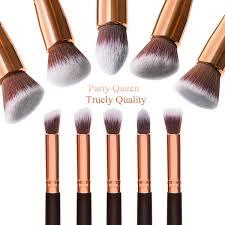 amazon com party queen makeup brush set classic 10pcs rose golden