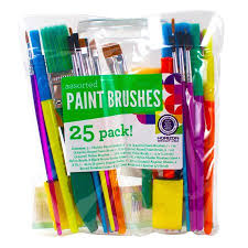 kids craft assorted paint brushes 25 pack walmart com