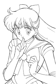 sailor scouts coloring pages creativemove