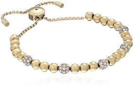 gold bracelet with pearls images Michael kors blush rush gold tone bead bangle bracelet jpg