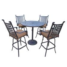 Patio Furniture Dining Sets - hampton bay vichy springs 7 piece patio high dining set frs80589ah