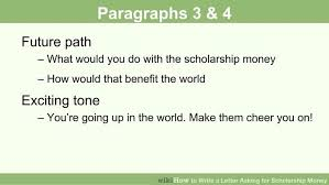 How to Write a Letter Asking for Scholarship Money  with Pictures  wikiHow Image titled Write a Letter Asking for Scholarship Money Step