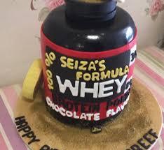 whey protein cake