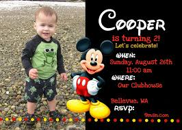 stirring mickey mouse birthday party invitations you can modify