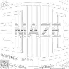 clipart maze coloring page for grown ups of the stop maze