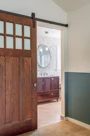 Barn Style Doors by Barn Door Entrance To Serene Master Bathroom This Master Bathroom