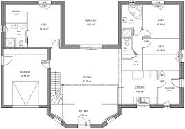 plan de maison 5 chambres plain pied plan maison de maitre plain pied avec 5 chambres ooreka