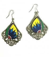 feather earrings online india earrings crochet peacock feather earrings online shopping india