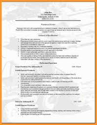 Warehouse Worker Resume Template Warehouse Worker Resume Sample Worker Resume Samples In Examples