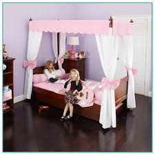 canopy bed drapes for kids
