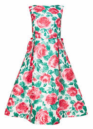 lupita floral occasion dress 50s style vintage inspired prom dress