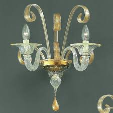 Glass Wall Sconce Goldoni Murano Glass Wall Sconce Murano Glass Chandeliers