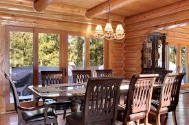 Log Dining Room Table by 15 Log Cabin Estate Private Luxury Wowrentals Com