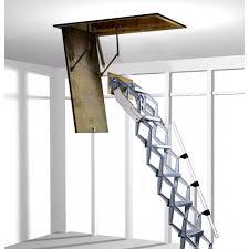 folding loft ladder with concertina zedfolding mechanism