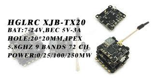 20x20mm xjb tx20 mini 5 8g 72ch 0 25mw 100mw 250mw switchable fpv