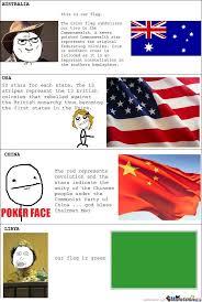 Flag Meme - australia usa china libya flags rage by serkan meme center