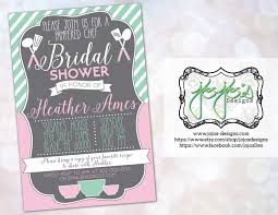 pampered chef bridal shower invitations kawaiitheo com
