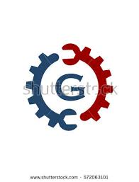 repair service gear circle g stock vector 572063101 shutterstock