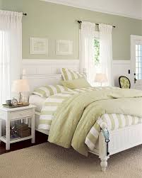 Green Curtains For Bedroom Ideas Sage Green Accent Wall Behind The All White Bed With Green