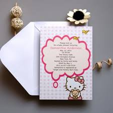 kitty baby shower invitations bs070