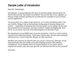 sample letter of introduction basic cover letter cover letter