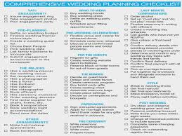 wedding planning schedule comprehensive wedding planning checklist the checklist of the