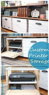 Printer Storage Cabinet Diy Tutorial For A Custom Printer Storage Crate From