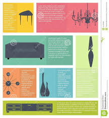 home decor infographic infographic of interior home furniture icons stock vector