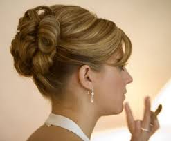 short updo for wedding and model