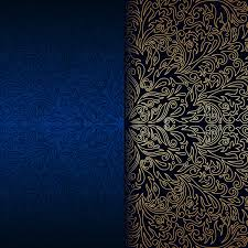 luxury blue background with ornament gold vector 10 vector