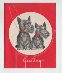 vintage scottie card scottie cards