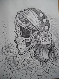 dead gypsy tattoo sketch real photo pictures images and