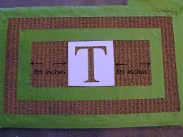 Doormat Leave Diy Pottery Barn Inspired Monogrammed Doormat Tutorial