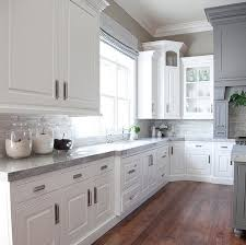 Gray Kitchen Cabinets Benjamin Moore by White And Gray Kitchen Countertop The Gray Is Benjamin Moore