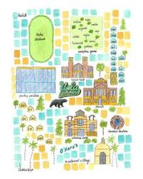 map of ucla map of of california los angeles ucla cus map