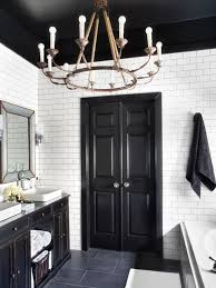 white and black bathroom ideas bold black interior doors inspiration and tips hgtv s