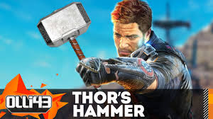 just cause 3 picking up thor s hammer youtube