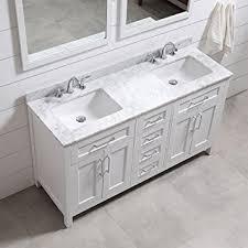 Ove Decors Bathroom Vanities Ove Decors Tahoe 60w Marble Top Bathroom Double Sink Vanity 60