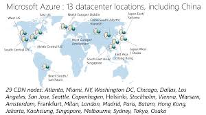Microsoft Map Maps Of Data Center Localizations
