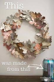 Boite Metal Decorative by Diy Metal Leaves Soda Wreaths And Leaves