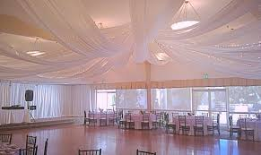 draped ceiling vigens party rentals tent rentals los angeles drapery and